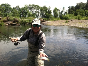 Eugene trout fishing guide, fly fishing, guided fly fishing, spring trout fishing,